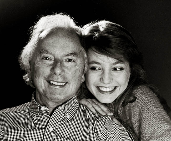Panufnik with daughter and fellow composer, Roxanna, in Twickenham 1987
